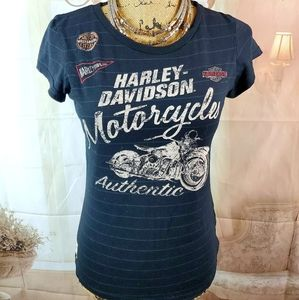 Harley Davidson striped burn out tee. Size…